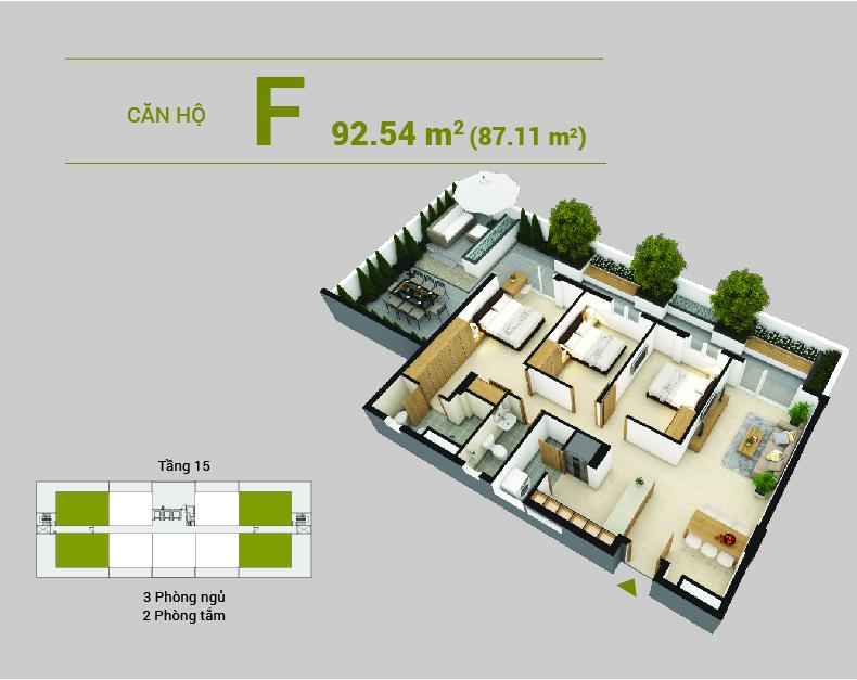 Căn hộ F dự án Sai Gon Metro Park