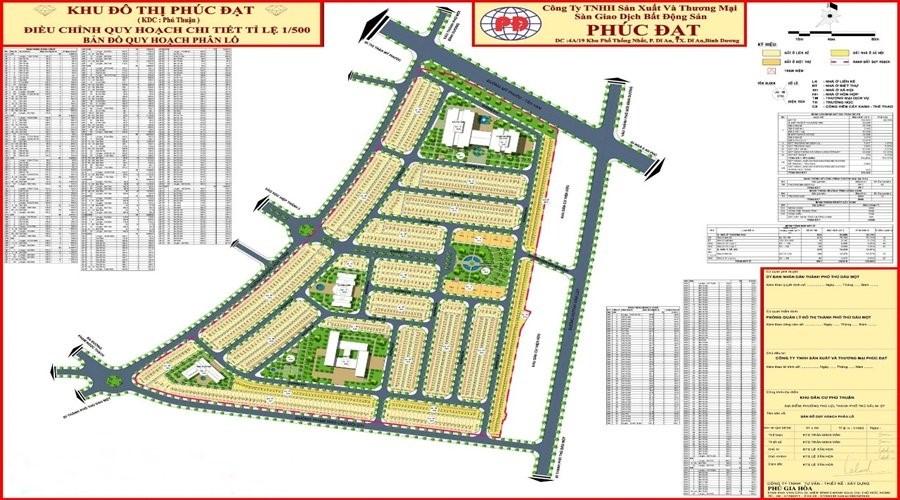 Bản đồ quy hoạch chi tiết 1/500