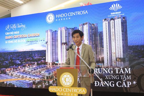 Chủ đầu tư Hà Đô centrosa garden phát biểu khai trương nhà mẫu