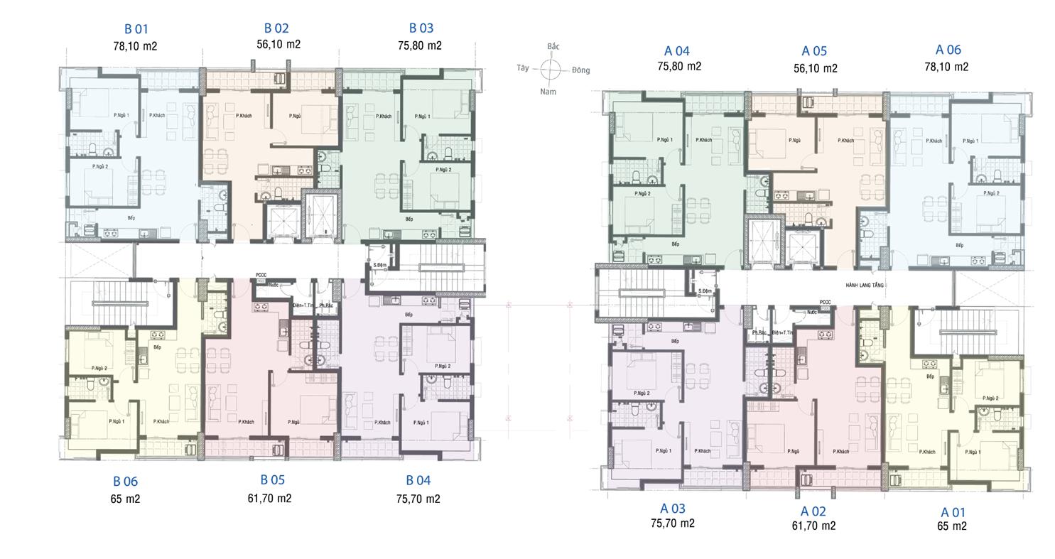 Mặt bằng căn hộ Full House